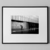man in modern architecture with umbrella fine art print street photography limited edition